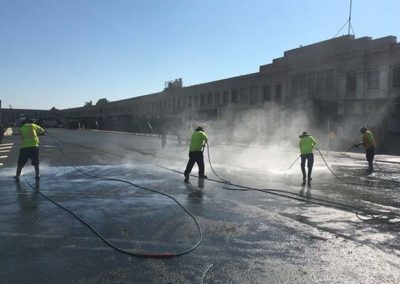Parking Lot Pressure Washing and Sweeping